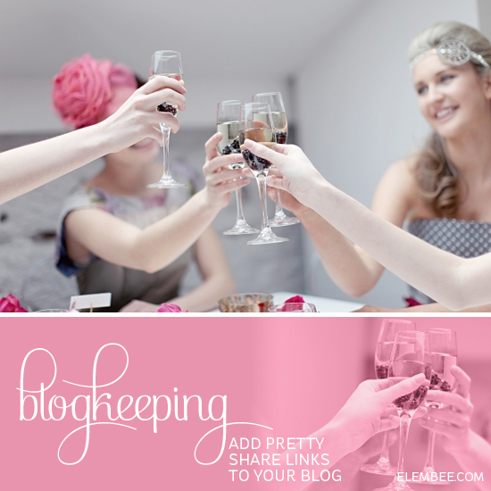 Blogkeeping // Add pretty share links to your blog // Elembee, Etc