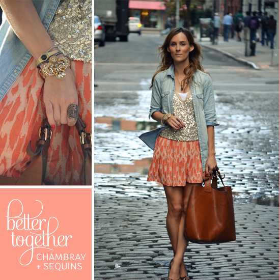 Better Together // Chambray + Sequins // Elembee.com