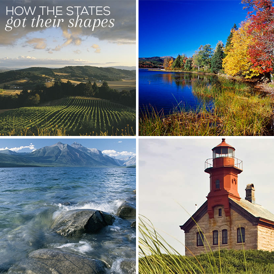 How The States Got Their Shapes // Elembee.com