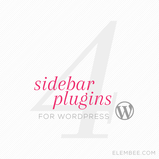 4 WordPress sidebar plugins // Elembee.com