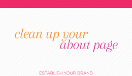 Blogkeeping // Clean up your about page // Elembee.com