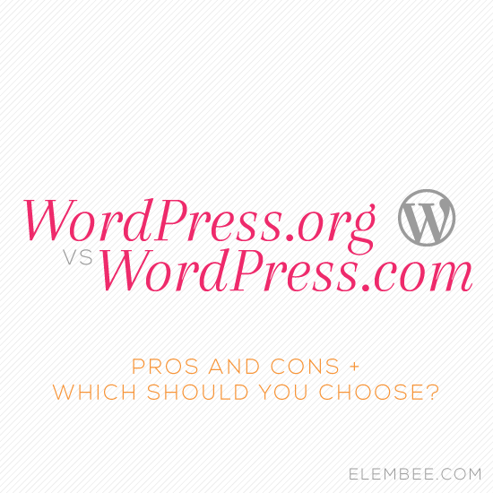 WordPress.org vs WordPress.com // Elembee.com