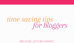 Blogkeeping // Time saving tips for bloggers // Elembee.com