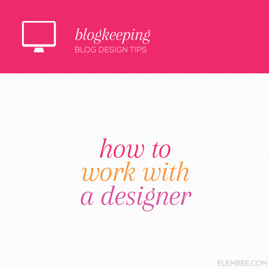 How to work with a designer // Elembee.com