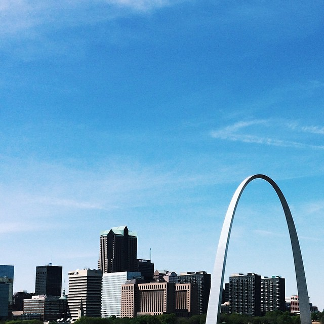 Passed through St. Louis. The view never gets old! #VSCOcam