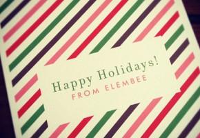 Happy Holidays // Elembee.com