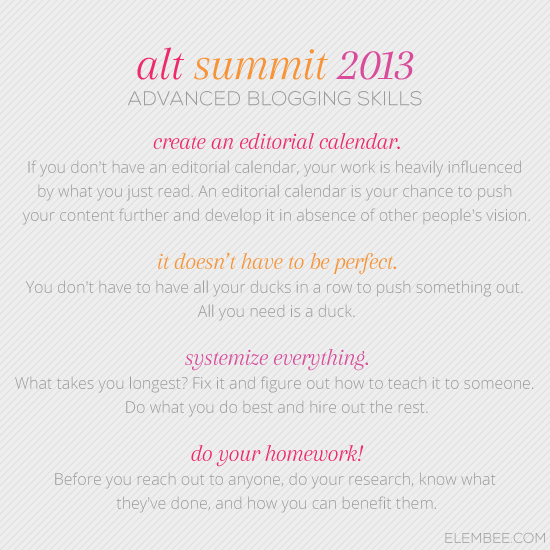 Alt 2013 // Advanced blogging skills // Elembee.com