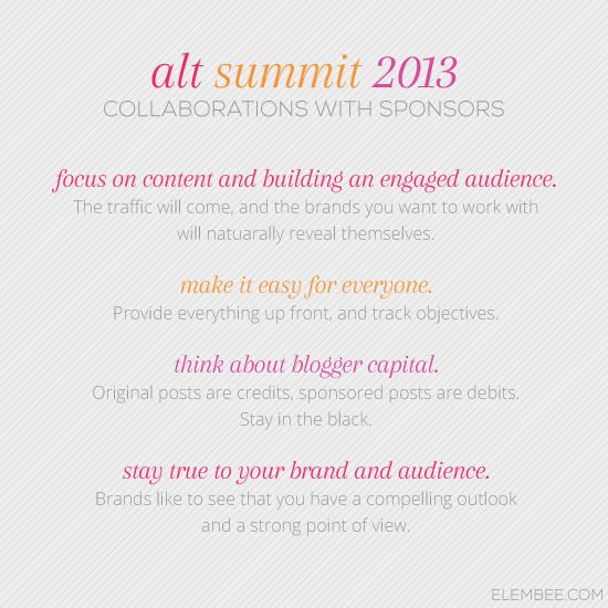 Alt 2013 // Collaborations with Sponsors // Elembee.com