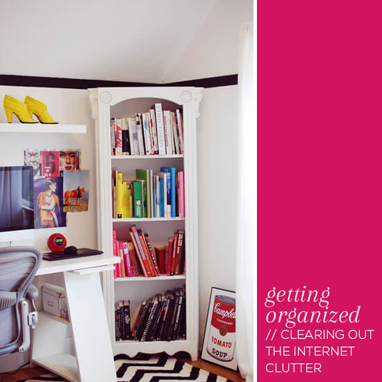 Getting organized // Clearing out the internet clutter // Elembee.com // Photo by Shauna Haider via Eva Black Design