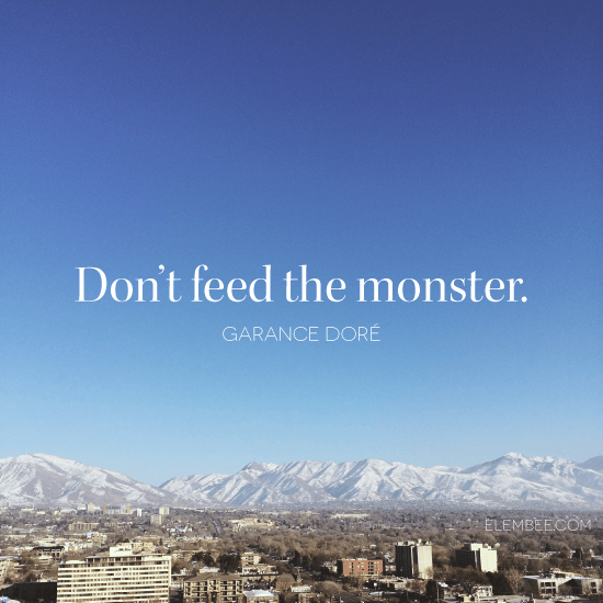 Don't feed the monster // Elembee.com