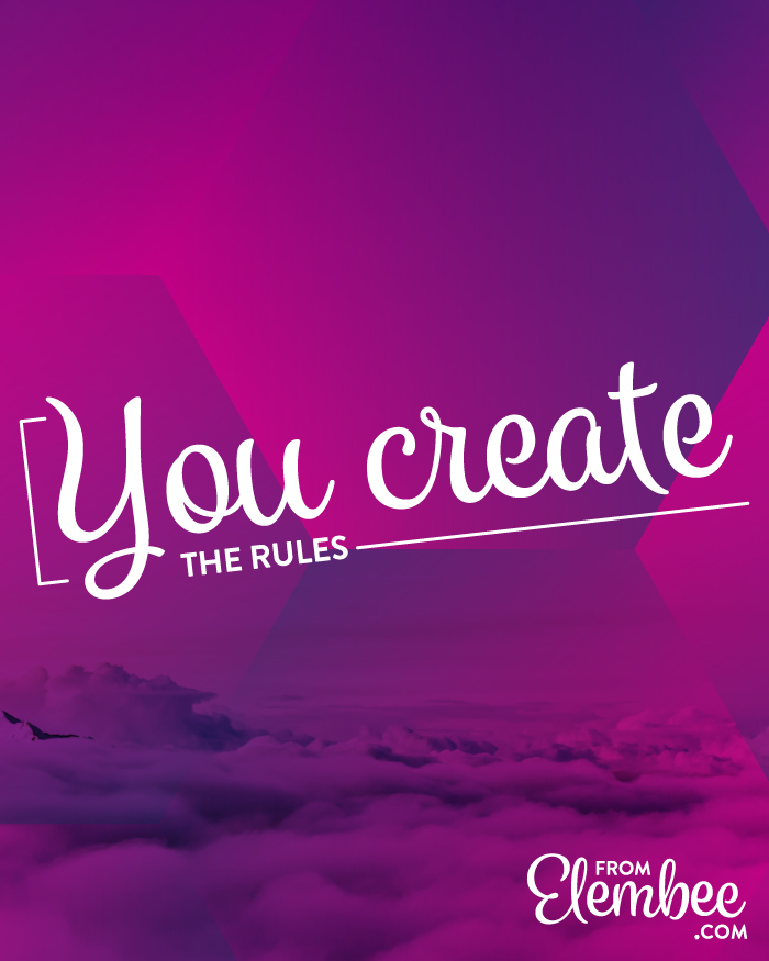 You create the rules from elembee.com