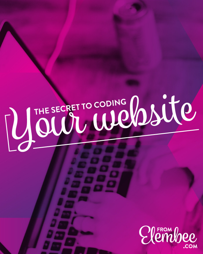 The secret to coding your website from elembee.com