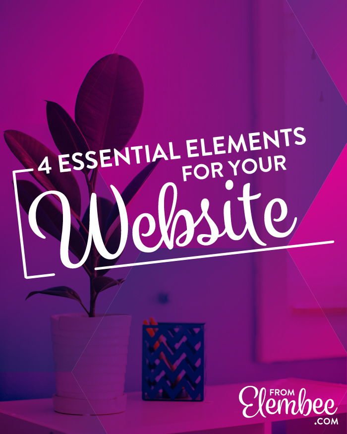 Essential website elements