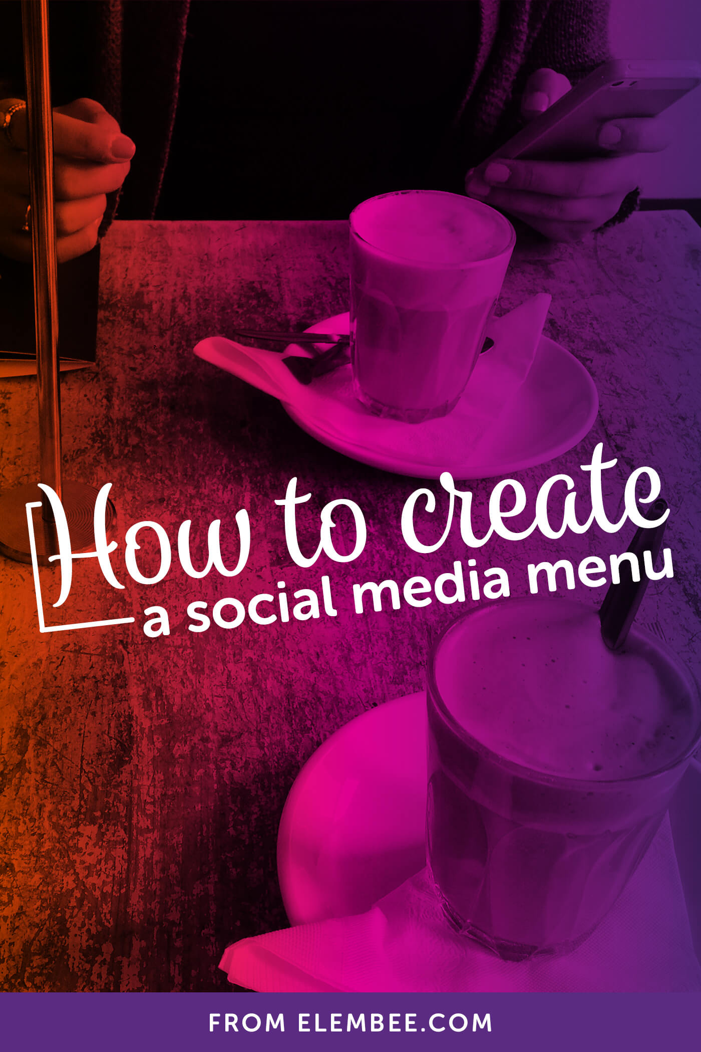 How to create a social media menu in WordPress with social media icons and links